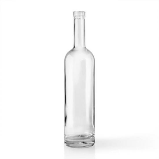 clear glass liquor bottles