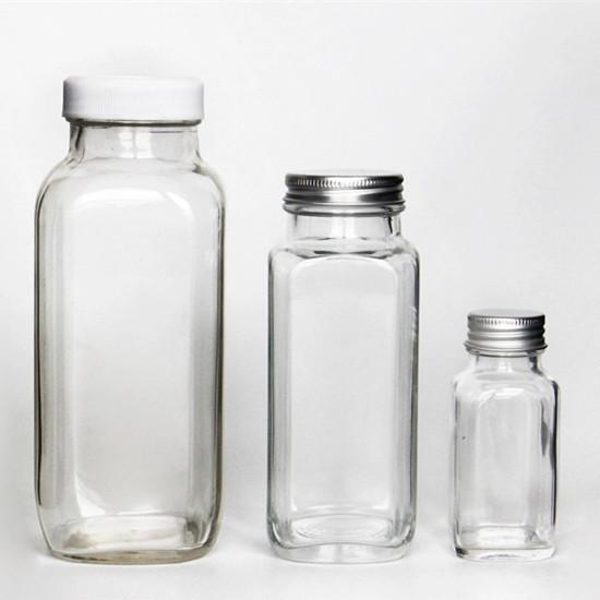 reusable glass juice bottles
